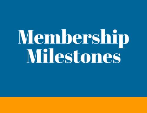 Member Milestones | January 2018